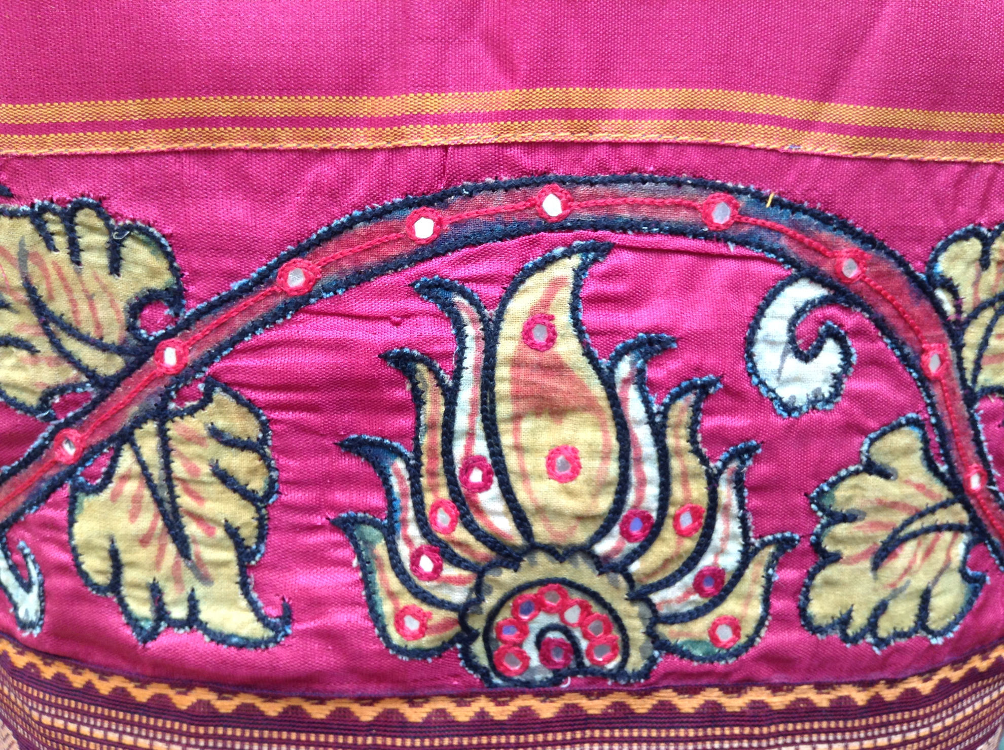 KALAMKARI ON BLUE
