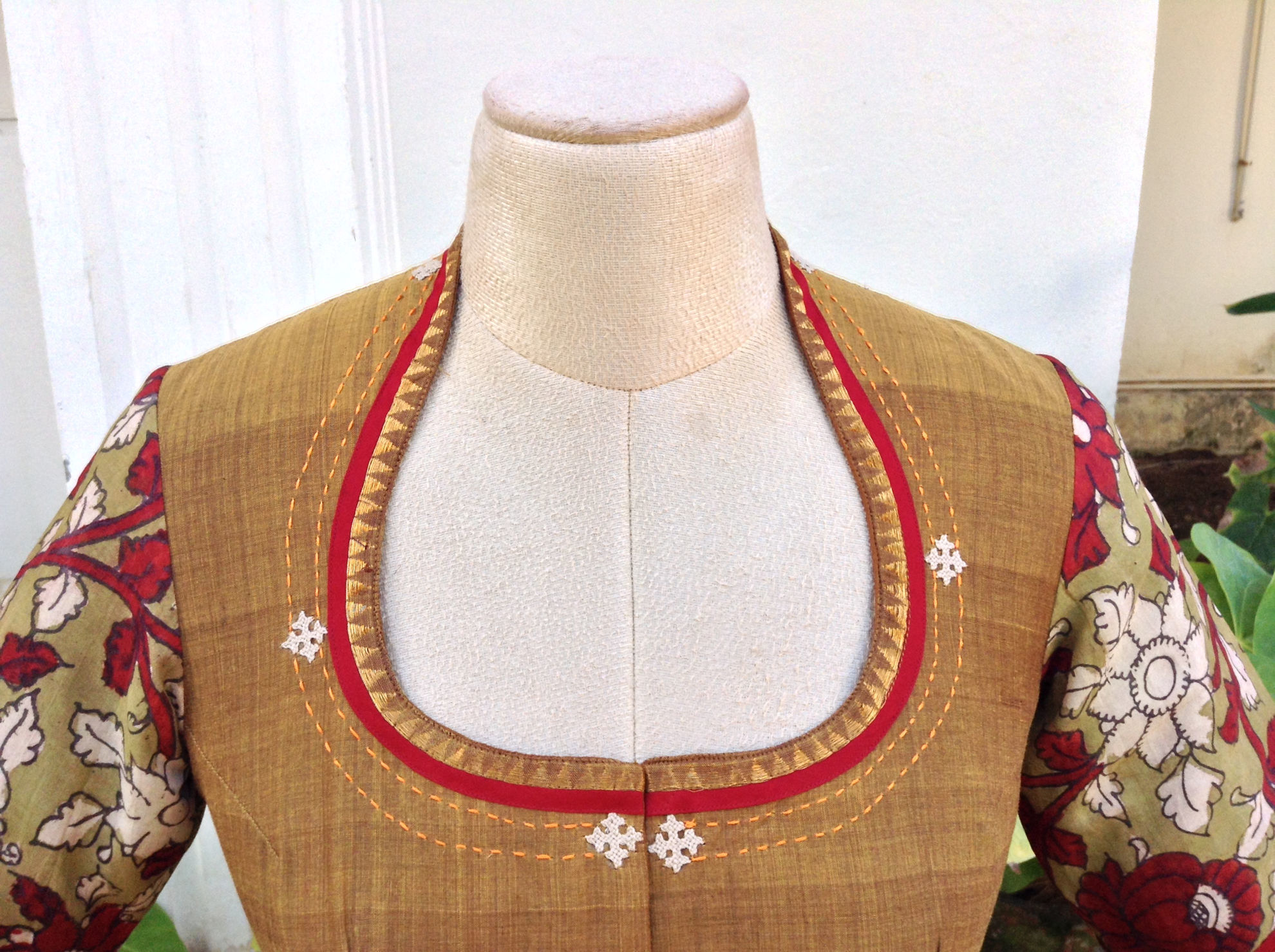 OCHRE WITH KALAMKARI