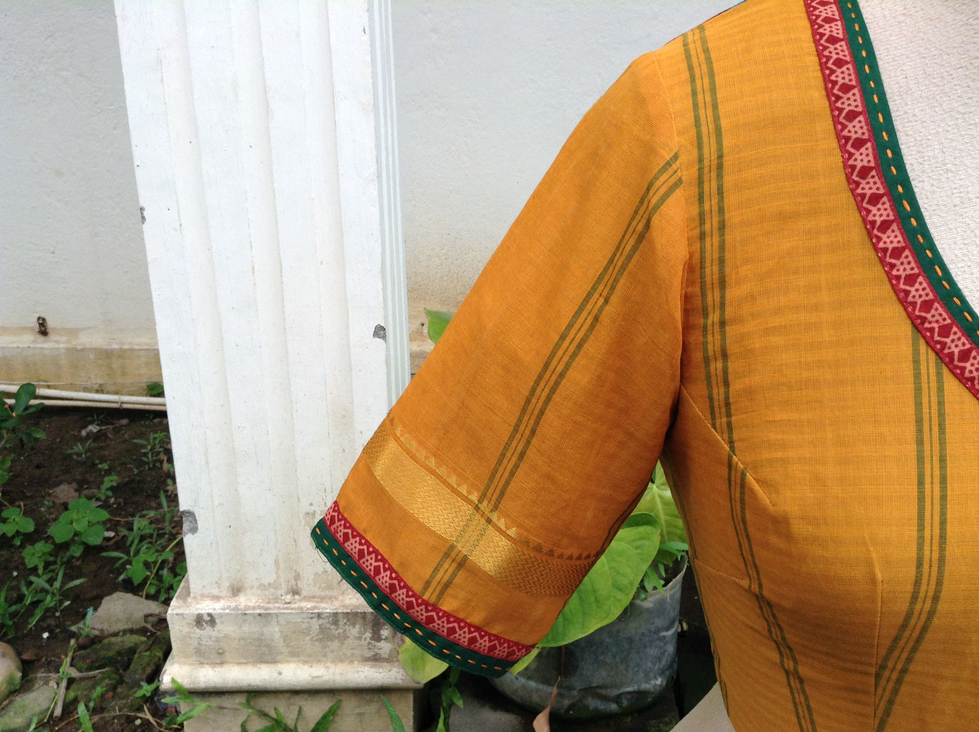 KALAMKARI  AND YELLOW
