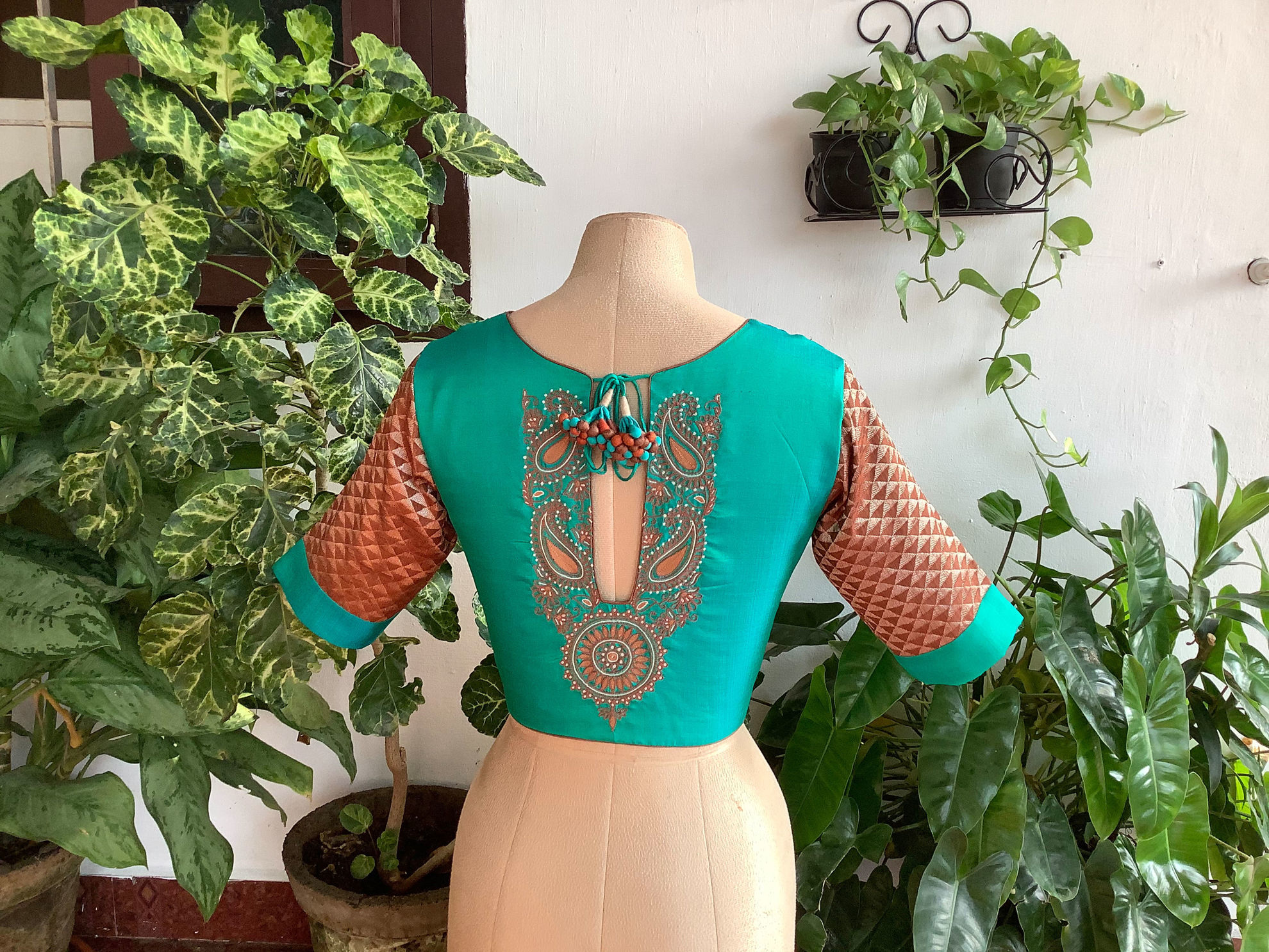 TURQUOISE  AND BROCADE
