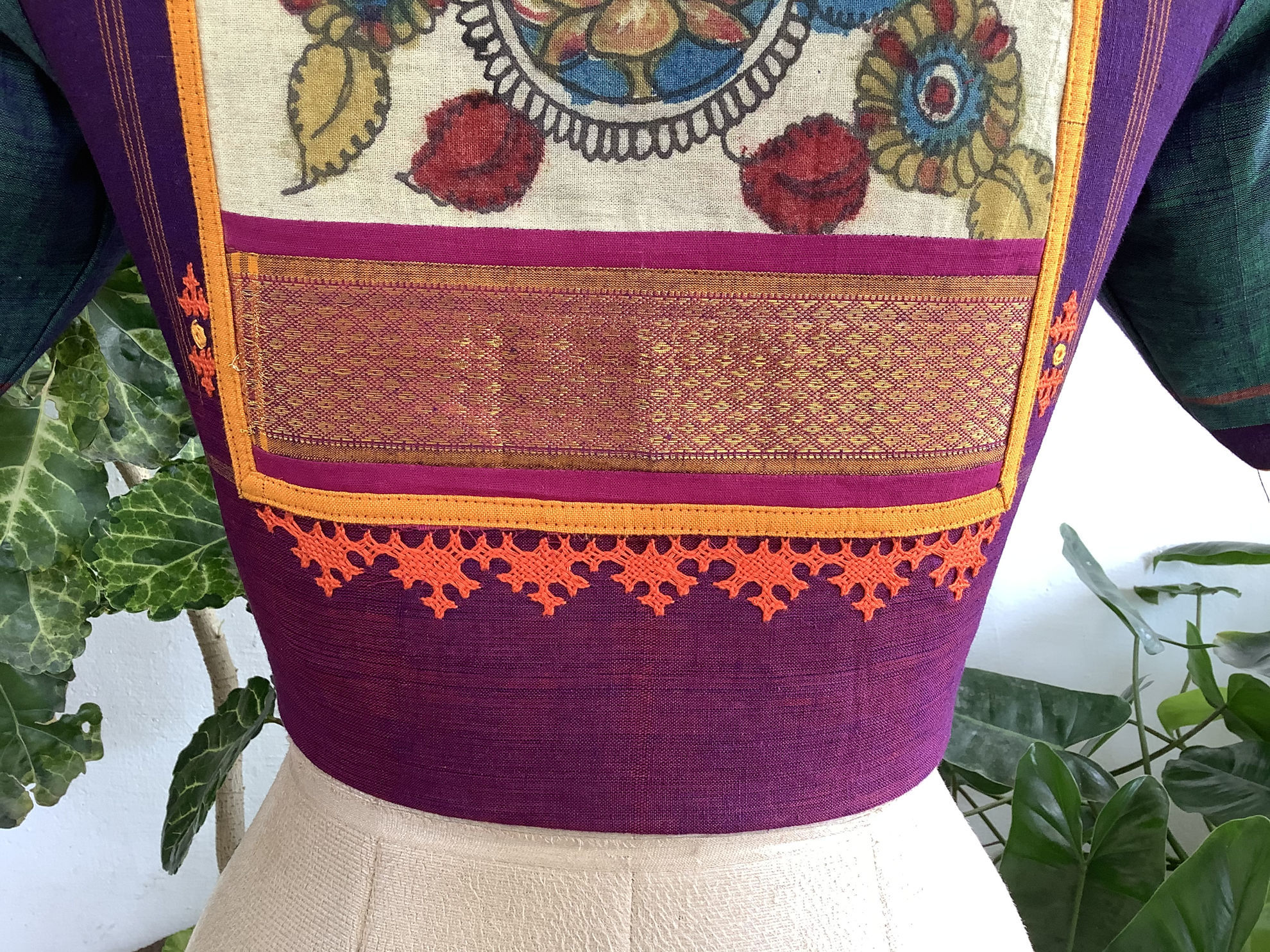 KALAMKARI ON VIOLET